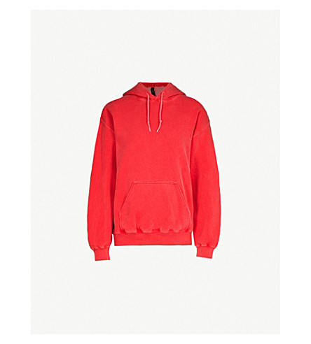 RAGYARD Kuchi-trim cotton-blend hoody (Red