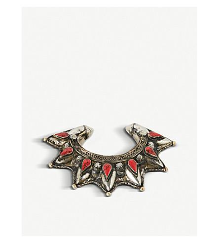 RAGYARD Stone-embellished cuff bracelet (Silver