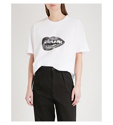 BYRONESQUE Lamyland Future Vintage cotton-jersey T-shirt (White
