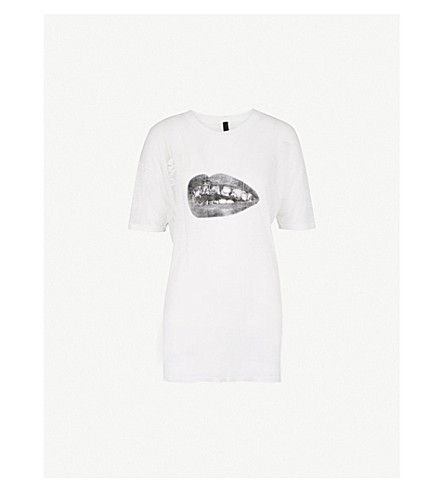 BYRONESQUE Lamyland Vintage cotton-jersey T-shirt (White