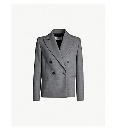 MM6 MAISON MARGIELA Double-breasted woven jacket (Grey