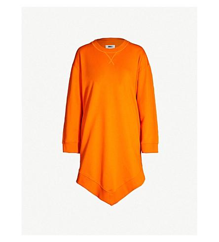 MM6 MAISON MARGIELA Dipped-hem cotton-jersey sweatshirt (Orange