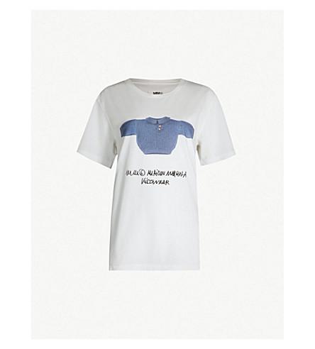 MM6 MAISON MARGIELA Kidswear cotton-jersey T-shirt (White