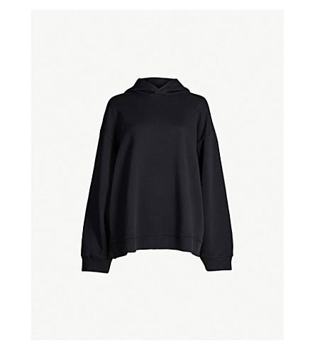 MM6 MAISON MARGIELA Logo-print cotton-jersey hoody (Black