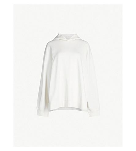 MM6 MAISON MARGIELA Logo-print cotton-jersey hoody (Cream