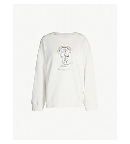 MM6 MAISON MARGIELA Rainbowmaker cotton-jersey sweatshirt (White