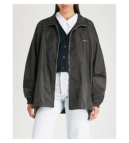WE11 DONE Funnel collar shell windbreaker jacket (Black
