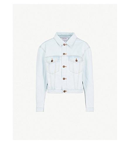 WE11 DONE USA bleached denim jacket (Ice