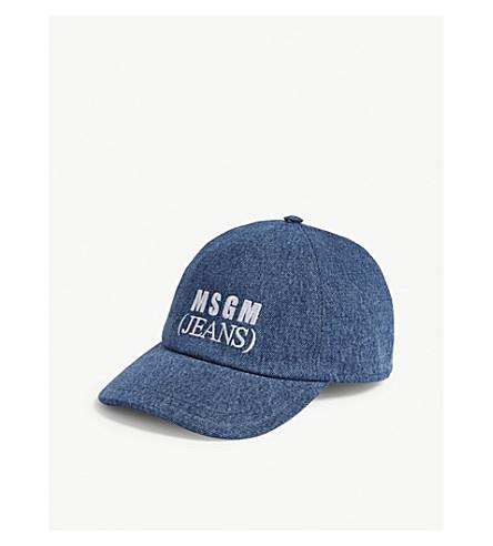 MSGM标志牛仔帽 (蓝色牛仔布