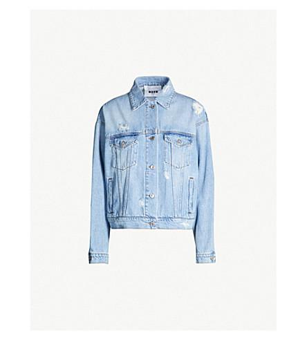 MSGM Ripped denim jacket (Blue
