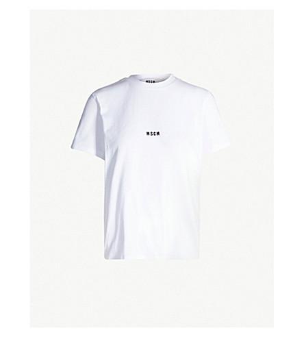 MSGM Logo-print cotton-jersey T-shirt (White 01