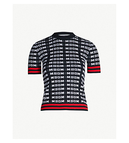 MSGM Logo knitted jumper (Black 99