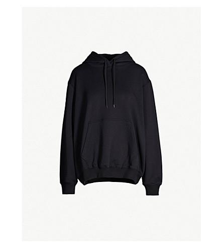 MSGM Logo cotton-jersey hoody (Black 99