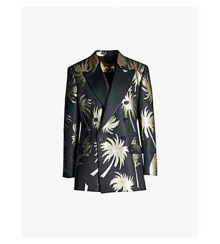 MSGM Palm tree brocade jacket (Palm print