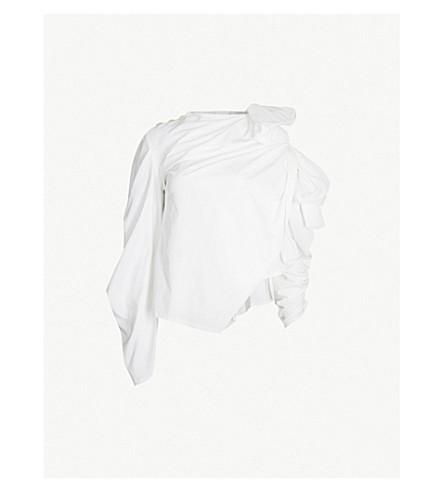 AWAKE Bow-detail woven shirt (White