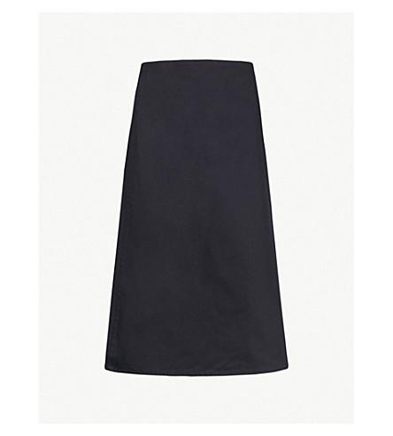 A PLAN APPLICATION A-line cotton-twill wrap skirt (Navy+blue
