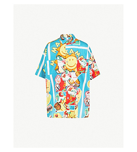 NOTHING SPECIAL Moschino printed woven shirt (Multi
