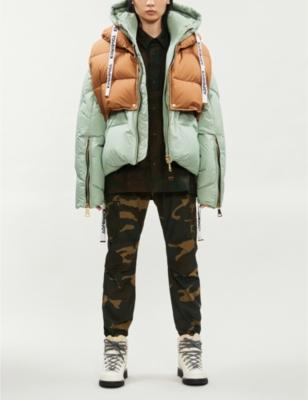 Khris green puffa w vest