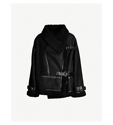 SHOREDITCH SKI CLUB Darling shearling jacket (Black black