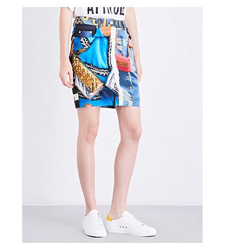 MOSCHINO Printed shell mini skirt (Multi