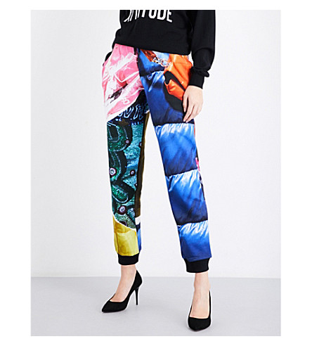 MOSCHINO Printed skinny cotton-jersey jogging bottoms (Multi