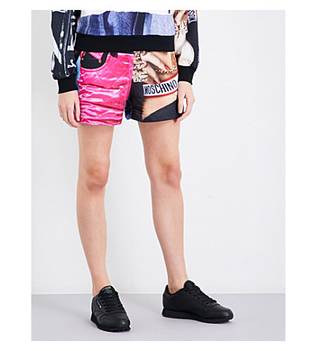 MOSCHINO Printed cotton-jersey shorts (Multi