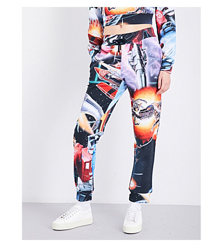 MOSCHINO Transformers-print cotton-jersey jogging bottoms (Multi