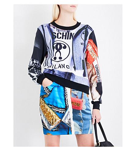 MOSCHINO Printed cotton-jersey sweatshirt (Multi
