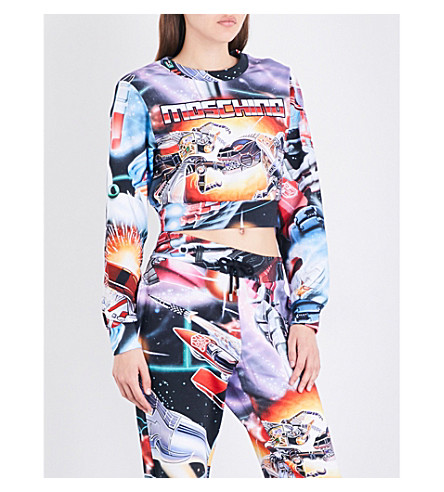 MOSCHINO Transformers cotton-jersey sweatshirt (Multi