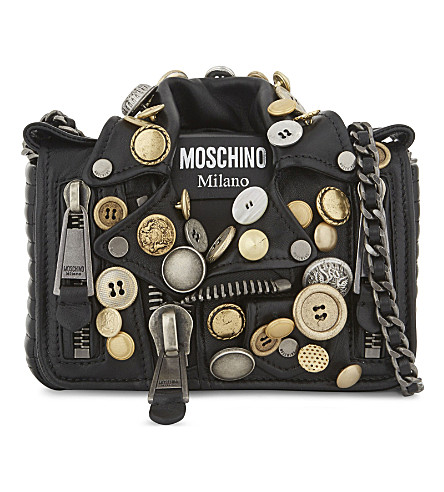 MOSCHINO Biker jacket leather shoulder bag (Multi