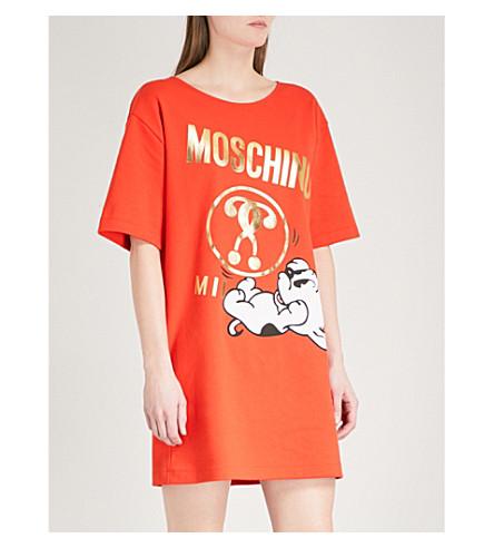 MOSCHINO Pudgy print stretch-jersey dress (Red