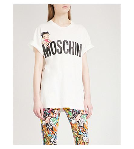 MOSCHINO Betty Boop cotton-jersey T-shirt (White