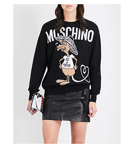 MOSCHINO Rat-A-Porter wool sweater (Black