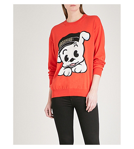 MOSCHINO Pudgy cotton jumper (Red