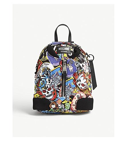 MOSCHINO Printed bomber jacket backpack (Multi