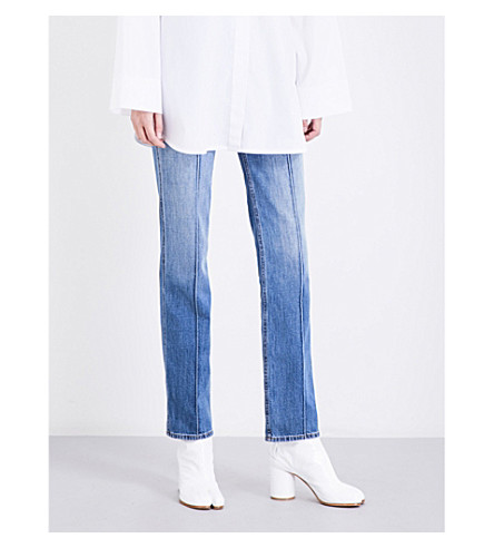MAISON MARGIELA Seam-detailed straight high-rise jeans (Blue
