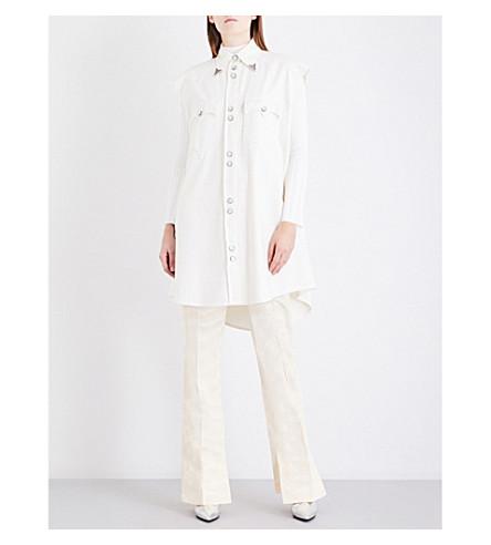 MM6 Western sleeveless denim dress (Off+white