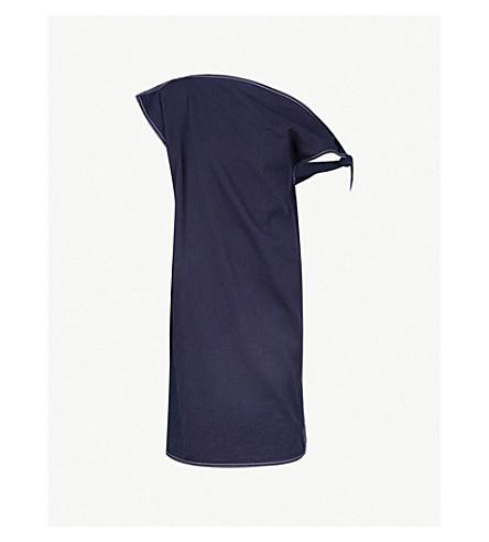 MM6 MAISON MARGIELA Asymmetric denim dress (Navy