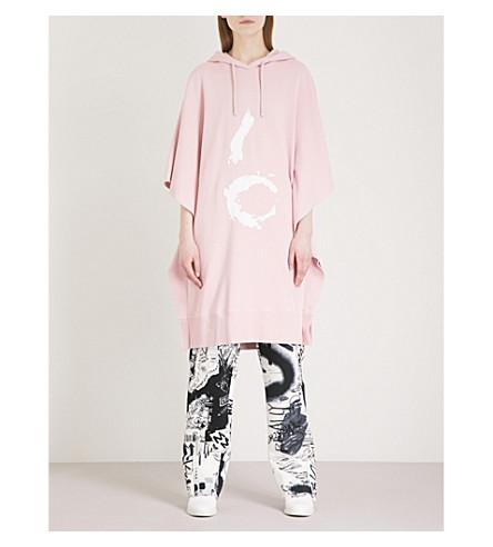 MM6 MAISON MARGIELA 6 printed cotton-jersey sweatshirt dress (Pale+pink