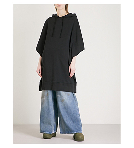 MM6 MAISON MARGIELA Numbers oversized cotton-jersey hoody (Black