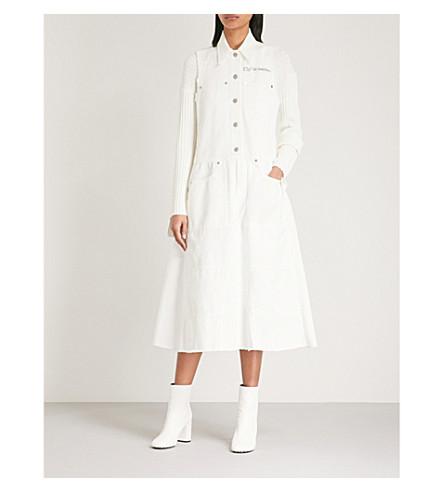 MM6 MAISON MARGIELA Exposed button cotton dress (Off+white