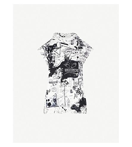 MM6 MAISON MARGIELA Scribble-print cotton dress (Multi+-+scribble