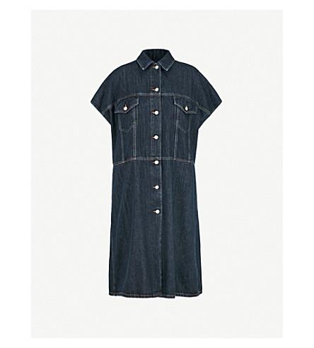 MM6 MAISON MARGIELA Oversized denim shirt dress (Indigo