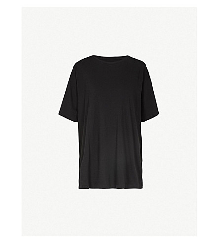MM6 MAISON MARGIELA Numbers oversized cotton-jersey T-shirt (Black