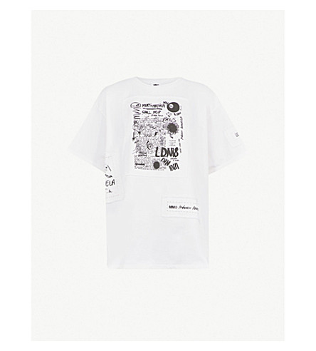 MM6 MAISON MARGIELA Patch-detail cotton-jersey T-shirt (Off+white