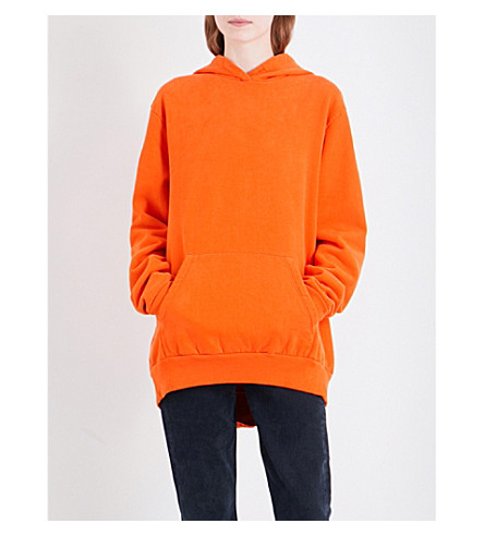 MM6 Exposed seam cotton-jersey hoody (Orange