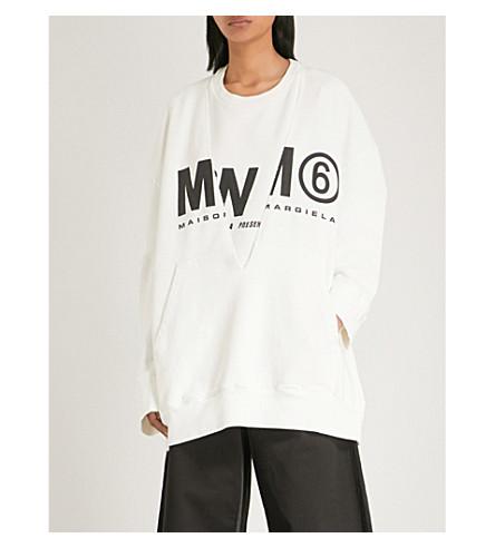 MM6 MAISON MARGIELA MM6 oversize layer sweatshirt (Off+white