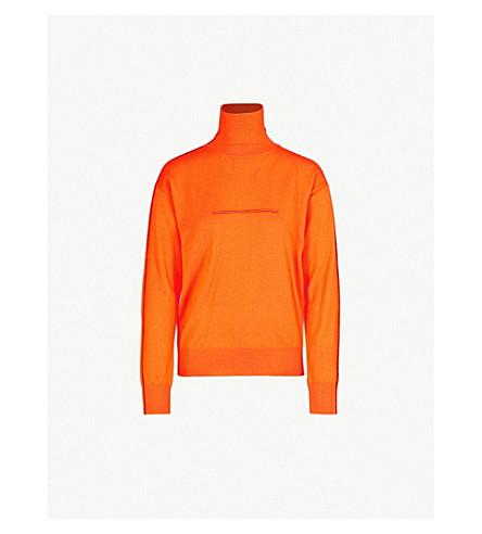 MM6 MAISON MARGIELA Turtleneck wool sweater (Orange
