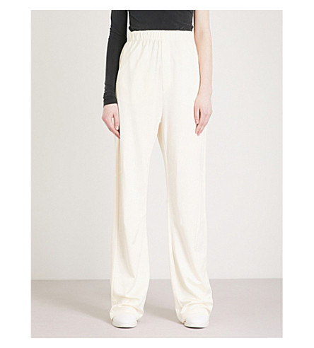 MM6 MAISON MARGIELA Flared high-rise jersey jogging bottoms (Off+white