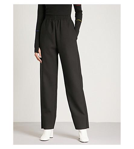 MM6 MAISON MARGIELA Wool-blend jogging bottoms (Black